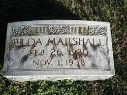 Hilda Marshall (1920-1938) - Find A Grave Memorial