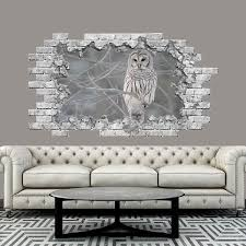 Shop Owl Wall Decal 3d Hole In The Wall Overstock 31585263
