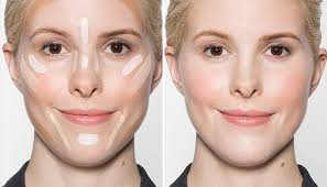 contour your face with makeup