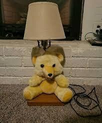 Stuffed Plush Tan Light Brown Teddy Bear Desk Kids Room Lamp 20 Tall Ebay