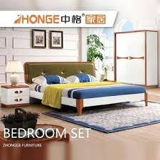 bedroom set with leather headboard