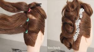 Easy And Beautiful Hairstyles For Party تسريحة سهلة وسريعة للعيد