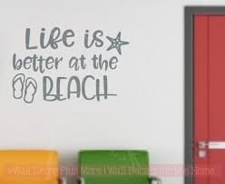 Life Is Better At The Lake Or River Summer Vinyl Letters Decals Wall Stickers Camper Decor Quote