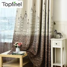 Topfinel Cartoon Castle Window Curtains For Kids Children Room Girls Boys Baby Bedroom Gradient Design Blackout Curtains Drapes Curtains For Curtains For Kidsblackout Curtains Aliexpress