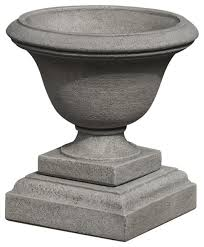 cast stone moreland urn with small urn