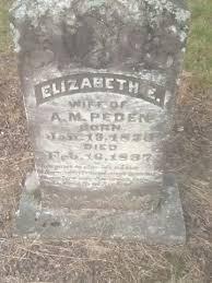 "Elizabeth ""Eliza Ann"" Peden (born Fowler) - Dorothella Dean's Family Web  Site - MyHeritage"