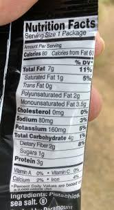 wonderful pistachios nutrition label