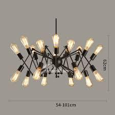industrial wrought iron chandelier 16