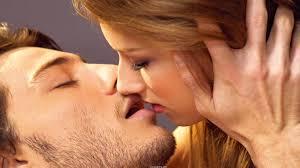 hot love kiss 1366x768 wallpaper