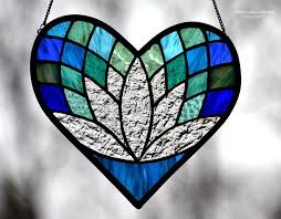 lotus flower heart suncatcher