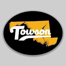 Amazon Com Jb Print Magnet Towson Maryland Oval Vinyl City Town College University Vinyl Decal Sticker Car Waterproof Car Decal Magnetic Bumper Sticker 5 Kitchen Dining