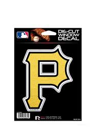 Pittsburgh Pirates Glitter Die Cut Auto Decal Yellow 7141282