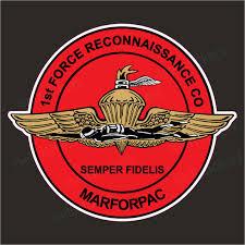 1st Force Recon Company Marine Marforpac Vinyl Bumper Sticker Window Decal