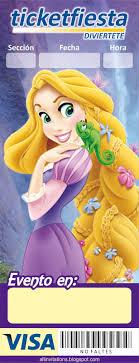Ticketfiesta Princesa Rapunzel Hd Jpg 614 1600 Invitaciones De