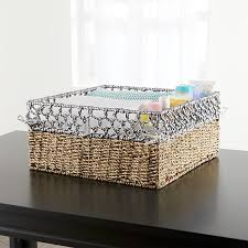 open weave large changing table basket