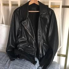 billie oversized leather jacket