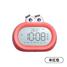 Children Cartoon Alarm Clock Kids Room Big Numbers Red Cute Night Light Desk Radio Alarm Clock Zegarek Budzik Watch Cc50nz Alarm Clocks Aliexpress