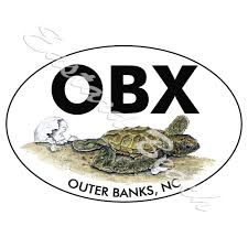 Obx Outer Banks Nc Turtle Hatchling Vinyl Decal Sticker Car Truck Rv Ebay