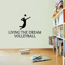 Volleyball Sticker Living The Dream Sport Beach Ball Wall Vinyl Print Decal Art The Clothing Shed