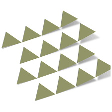 Olive Green Triangles Vinyl Wall Decals Shapes Patterns Decalvenue Com Decal Venue