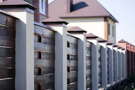 ᐈ Modern Home Fence Design Stock Photos Royalty Free Modern Fence Images Download On Depositphotos