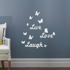 Live Laugh Love Quote Removable Wall Stickers Butterfly Mirror Decal Diy Decor For Sale Online
