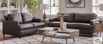 hettinger ash leather match sofa