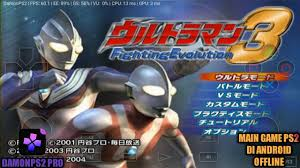ultraman fighting evolution 3 iso ps2