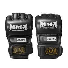 leather boxing gloves half finger