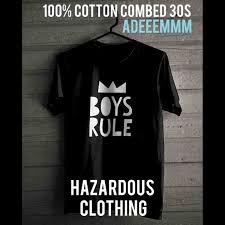 jual kaos baju distro tshirt boys rule couple kaos hitam putih