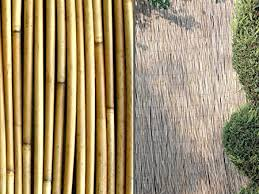 Natural Peeled Reed Screening Roll Garden Fencing Screen Fence Panel Wooden 4m 4m X 1 5m Amazon Co Uk Garden Outdoors