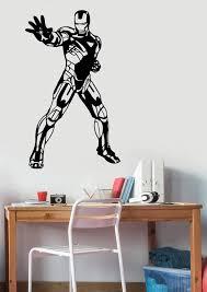 Iron Man Wall Sticker Vinyl Decal Marvel Comics Superhero Art Etsy