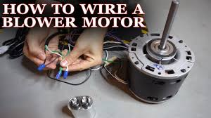 wire a furnace or ac er motor
