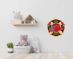 Fireman Theme Rooms Made Easy With Firetruck Wall Decals Wallmonkeys Com