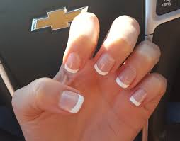 Short French Gel Manicure Love This Length With Images Gel