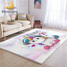 Blessliving Cute Unicorn Carpet Kids Room Rainbow Hair Rug Music Cartoon Living Room Carpet Fairy Tale Colorful Tapete Infantil Carpet Aliexpress