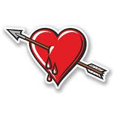2 X 10cm Bleeding Broken Heart Vinyl Decal Sticker Laptop Love Arrow Blood 5566 Ebay
