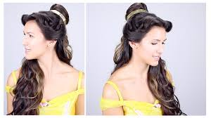 belle disney princess hair tutorial