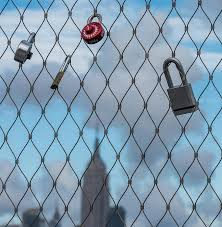 Love Locks Fence Empire State Building Photograph By Terry Deluco