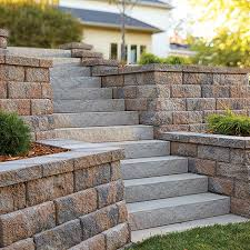 concrete block step units by anchor wall