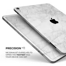 White Scratched Marble Full Body Skin Decal For The Apple Ipad Pro 1 Theskindudes