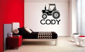 Personalized Name Tractor Farm Childrens Kids Sticker Vinyl Wall Decal Boys Room Ebay