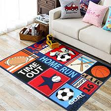 Kids Area Rugs With Sports Style Dark Blue Color Carpets 100 Nylon Baby Carpets For Living Room Boyds Bedside Rug Area Rug Style Rugkids Area Rug Aliexpress