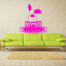 Amazon Com Wall Decal Flower Lotus Beauty Plant Longevity Luck Symbol Tibet India M125 Handmade