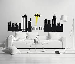 Amazon Com Gotham City Boy Girl Room Mural Wall Decal Sticker For Home Car Laptop Home Kitchen