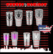 Nfl Oakland Raiders Decal For Yeti Cup Tumbler 20 And 30 Ozark Trail Football The Team Merchandise Storethe Team Merchandise Store