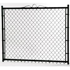 4 Ft H X 4 Ft W Vinyl Coated Steel Chain Link Fence Gate In The Chain Link Fence Gates Department At Lowes Com