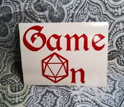 D D Game On Dungeons Dragon 5 5 Vinyl Decal Sticker Auto Gaming Dnd Rpg Die D20 Ebay