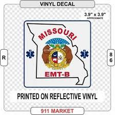 Missouri Emt B Reflective Vinyl Decal Mo Ems Basic Paramedic Car Sticker R 86 Ebay