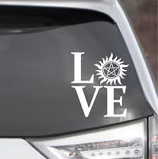 Supernatural Cw Sam Dean Winchester Car Wall Window Decal Sticker Ready 2 Ship